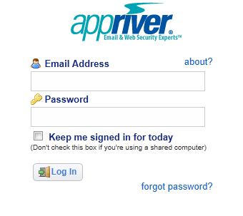 appriver-control-panel-login-page